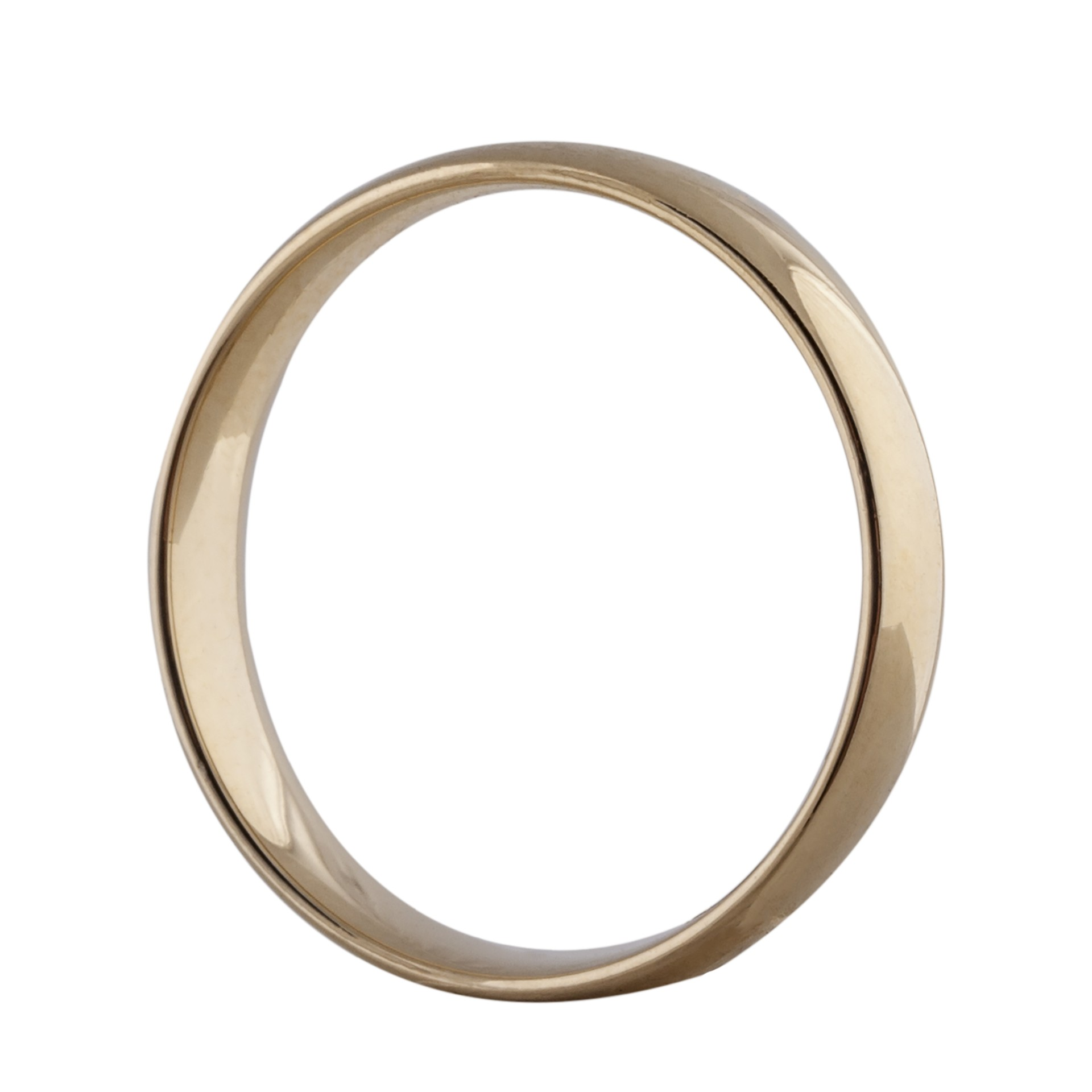 Court Wedding ring 4mm 14ct yellow gold