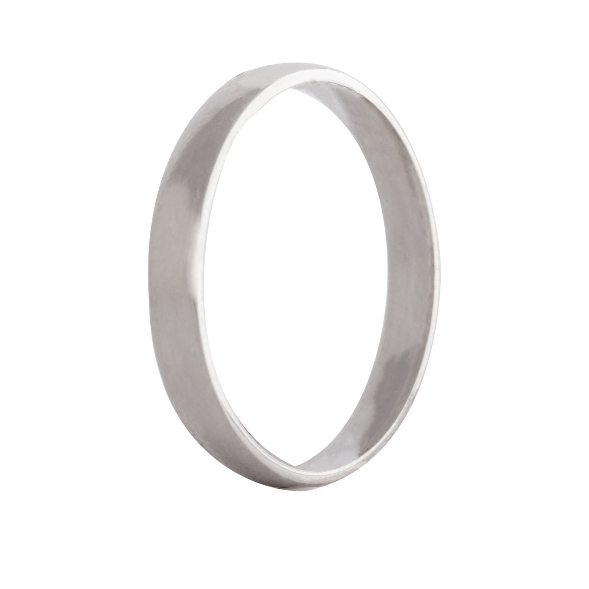 Court wedding band 2.5mm 9ct white gold
