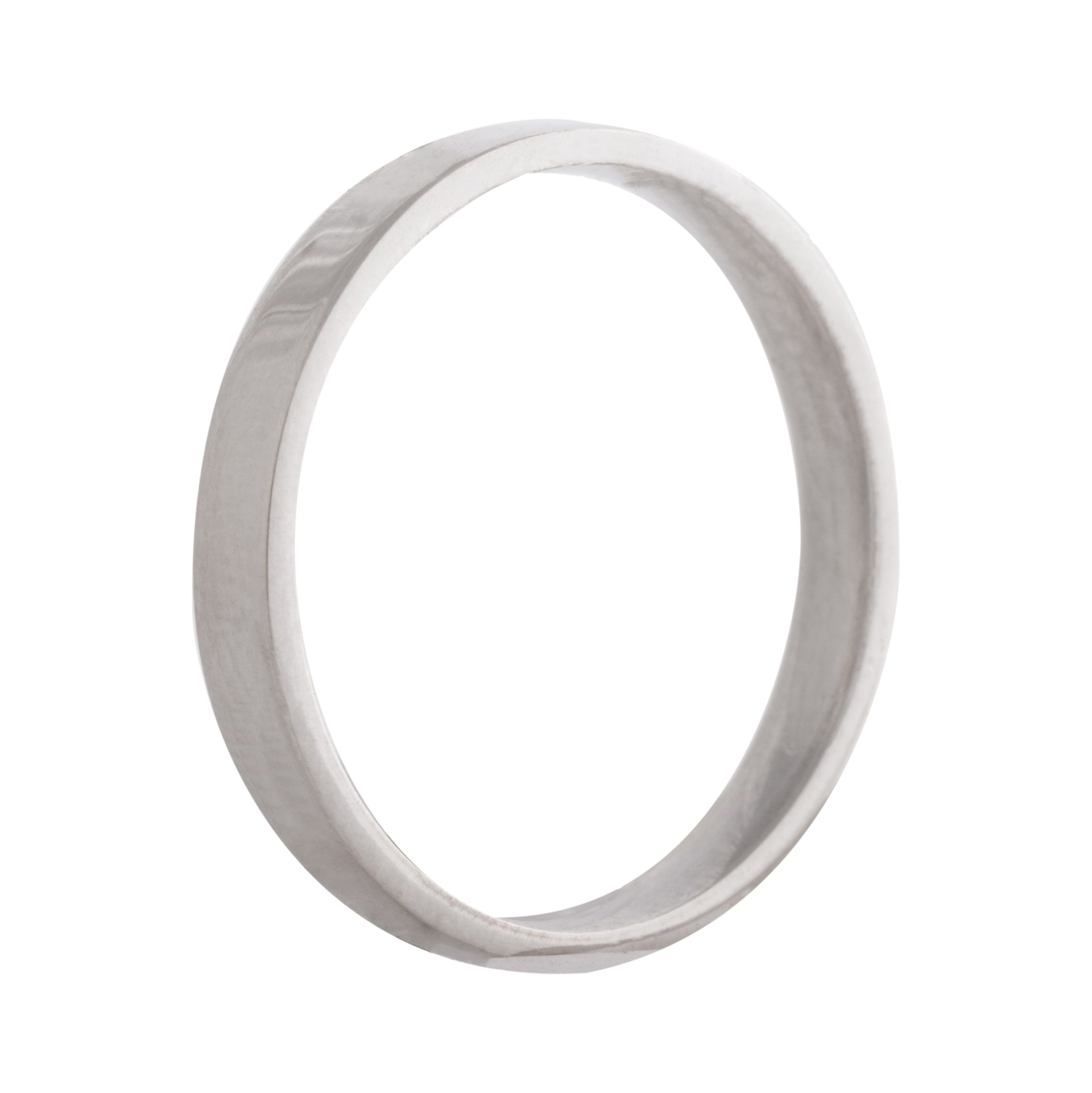 Flat wedding band 2,5mm 9ct white gold