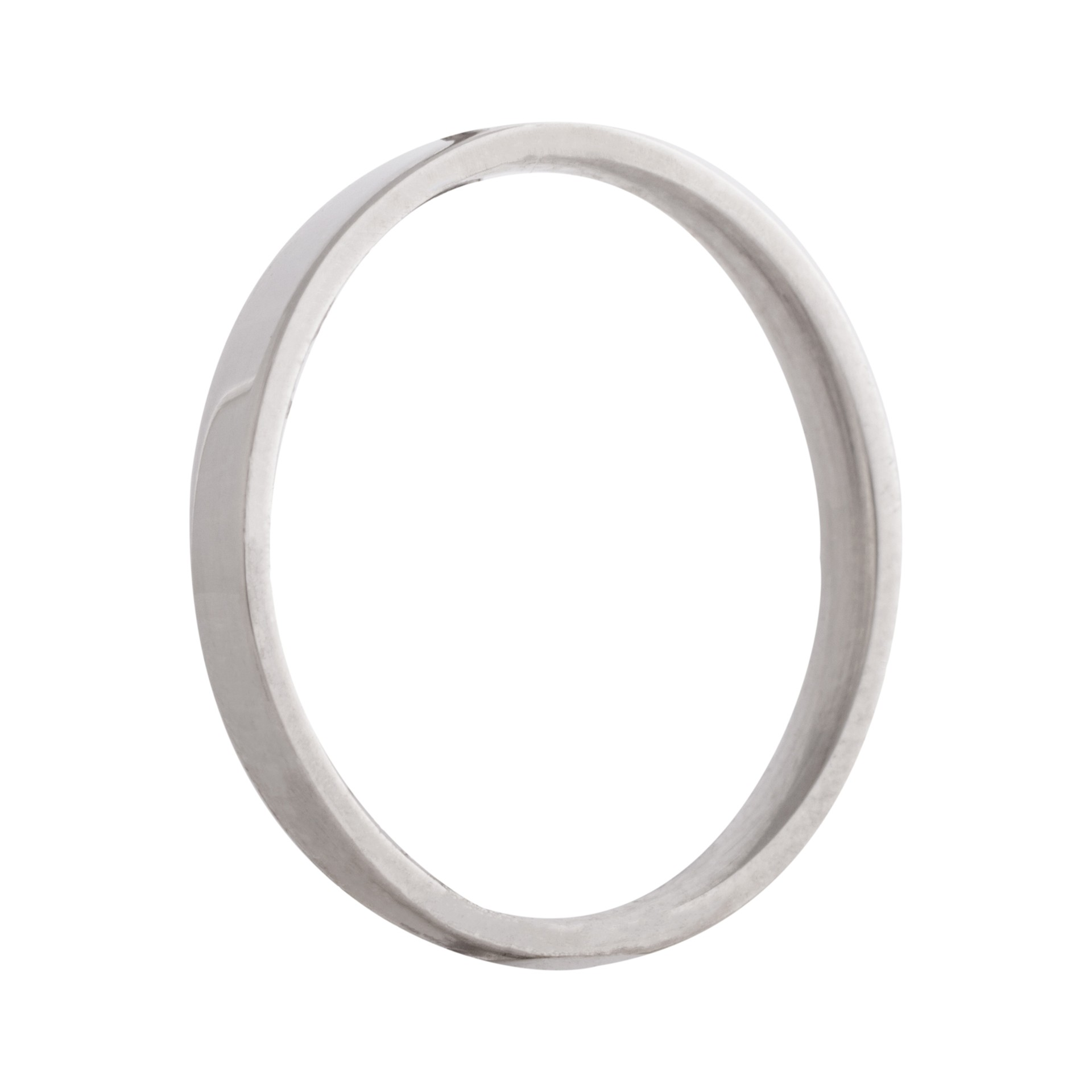 Flat wedding band 2mm 9ct white gold