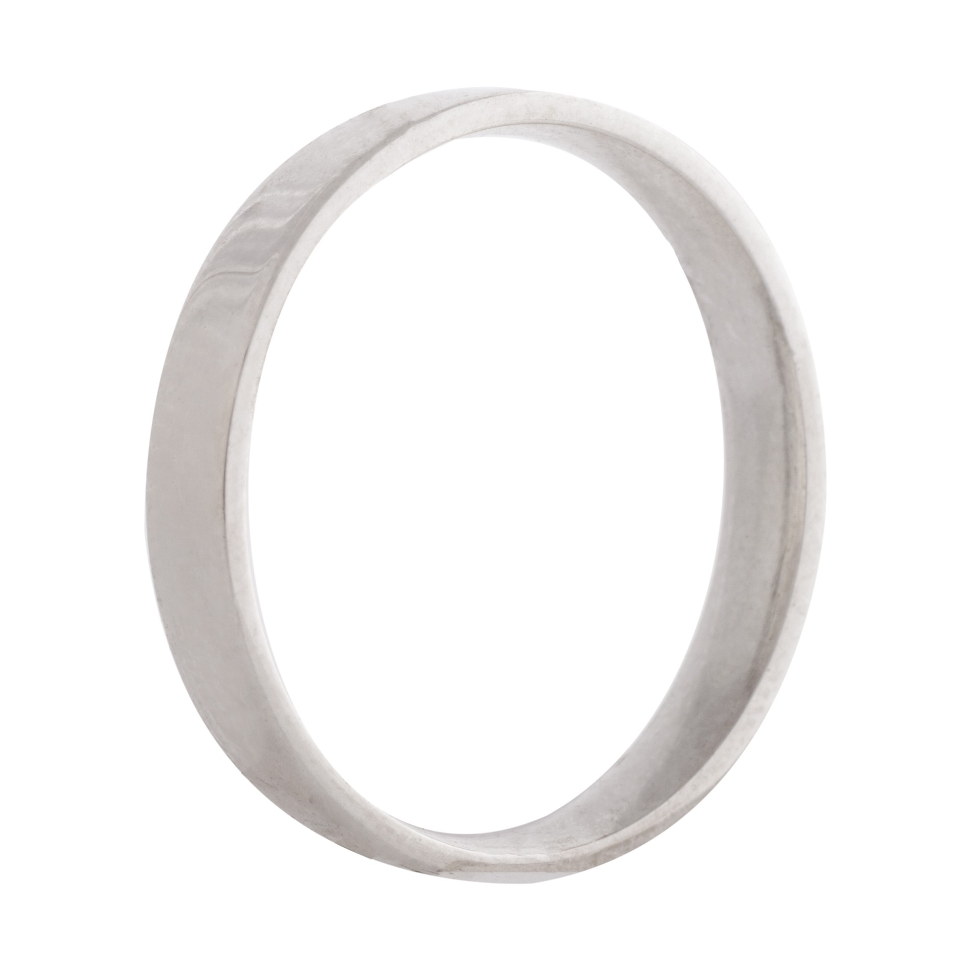 Flat wedding band 3mm 9ct white gold