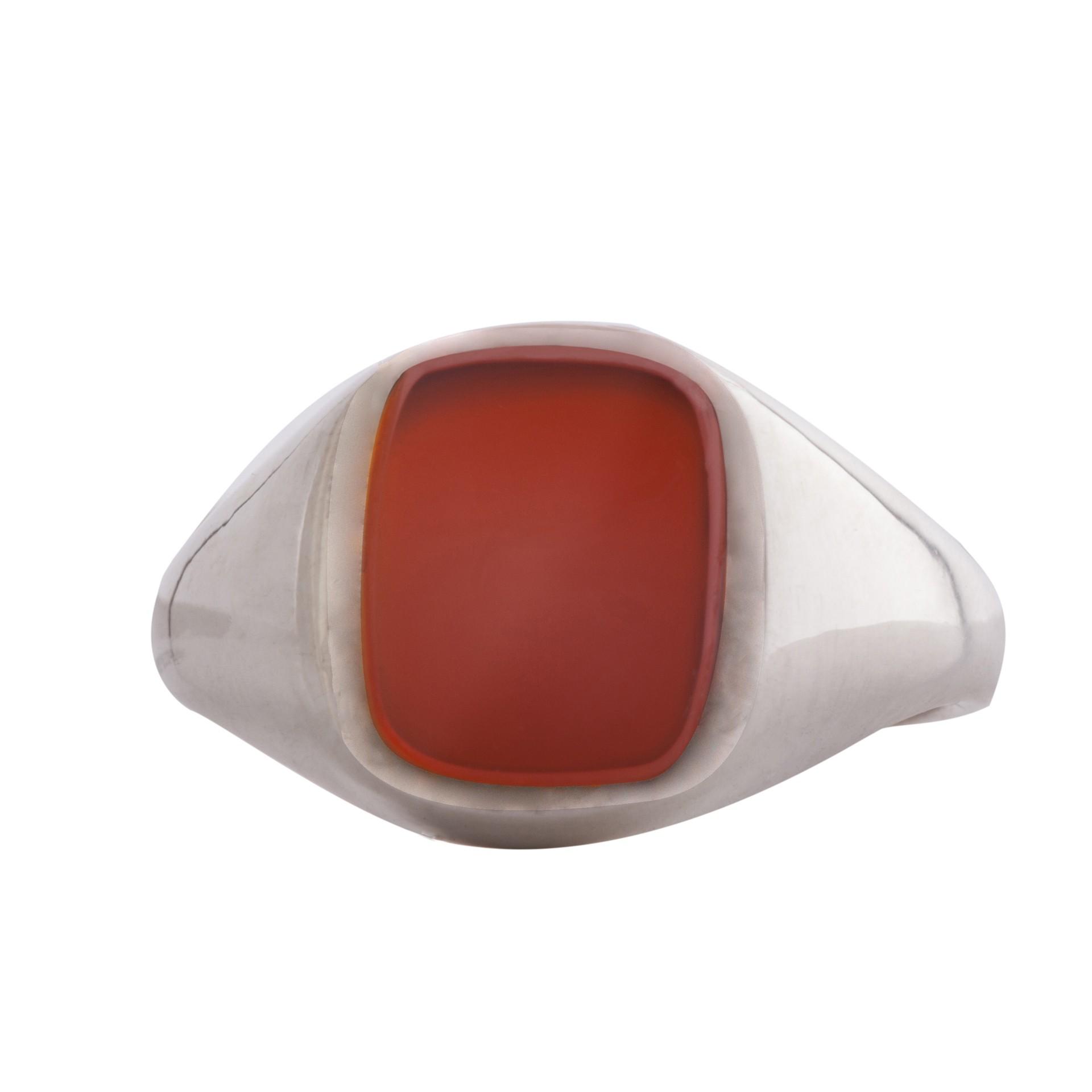 Cornelian stone signet ring