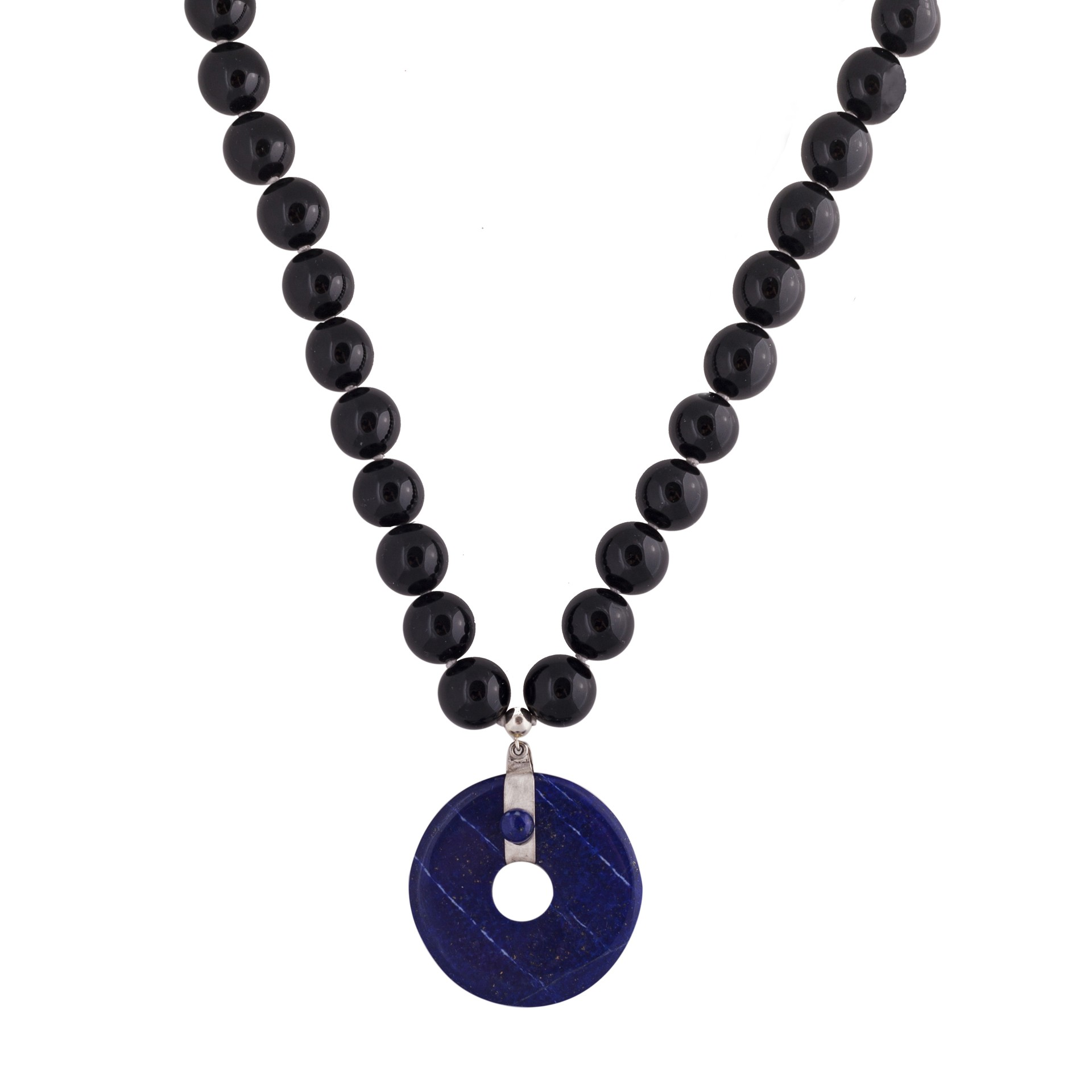 Blue Lapis stone necklace