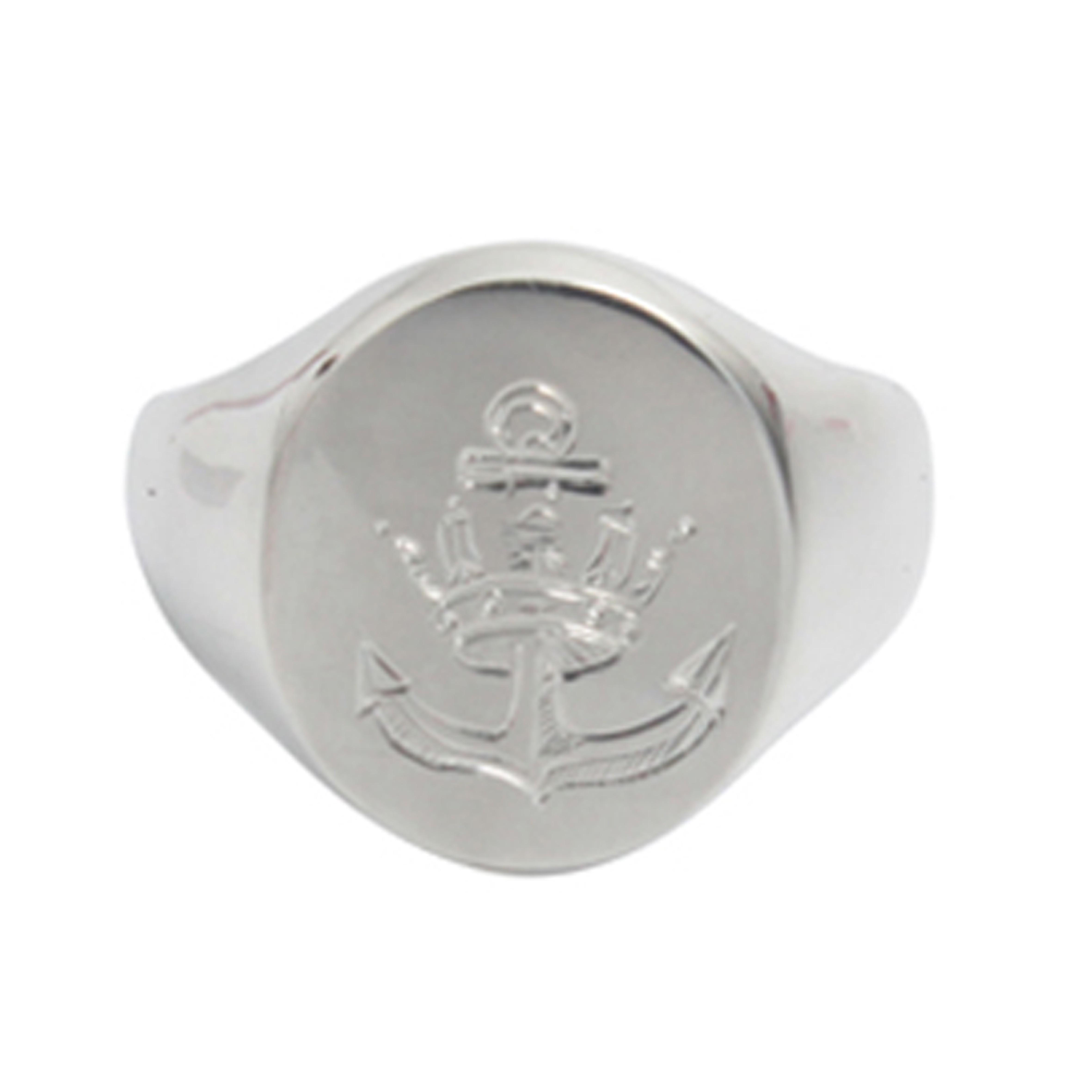 Anchor silver signet