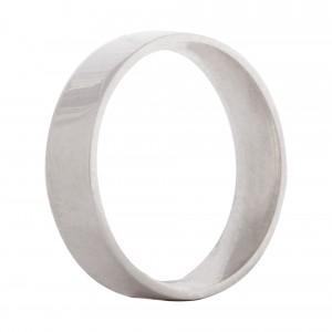 Flat wedding band 5mm 9ct white gold