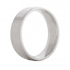 Flat Wedding band 6mm 9ct white gold