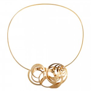 Clock gold necklace