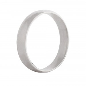 Court wedding band 4mm 9ct white gold