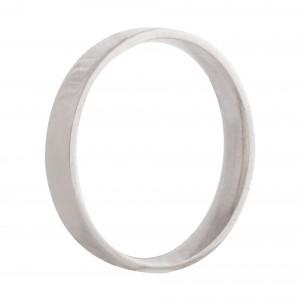 Flat wedding band 3mm 9ct white gold